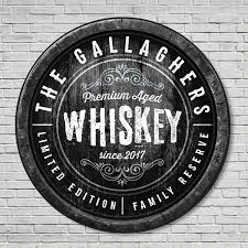 family reserve custom made whiskey sign home bar wall decor