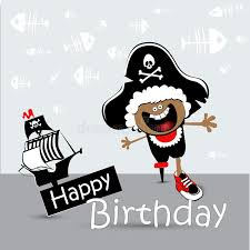 happy birthday card cat smile stock illustration image 41963507
