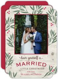 married christmas cards personalized christmas cards