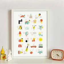 affiche chambre enfant zü décoration chambre enfant affiche vintage alphabet
