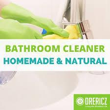 how to make natural bathroom cleaner homemade bathroom cleaner essential oil diy drericz com