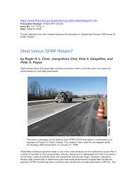 Concrete Sting Cost Estimate by Steel Versus Gfrp Rebars Pdf Available