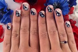 fourth of july nail art that puts the stars in the u0027spangled