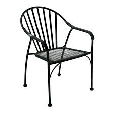 Patio Chairs Black Wrought Iron Slat Patio Chair At Home At Home