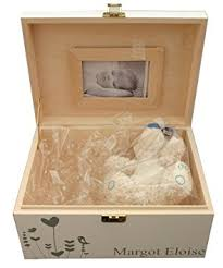 baptism memory box personalised large white newborn baby wooden keepsake or memory
