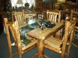 Log Dining Room Table Williams Log Cabin Furniture Log Dining Room U0026 Kitchen