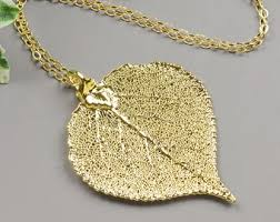 leaf pendant necklace images Leaf necklace etsy jpg