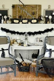 rustic halloween decor creep u0026 crawl halloween mantel dandelion patina