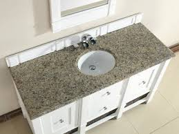 Bathroom Counter Tops Abstron 60 Inch White Single Sink Bathroom Vanity Optional Countertops