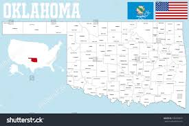 Oklahoma Counties Map Large Detailed Map State Oklahoma All Stock Vector 338299823