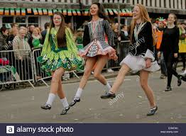 st s day parade through digbeth birmingham uk stock photo