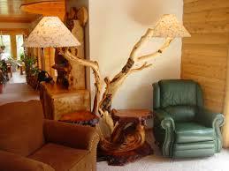 log floor lamp artistic juniper logs cabin decor lodge