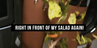 Salad Meme - right in front of my salad porn team is back with new meme