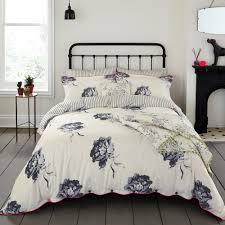 joules linens monochrome regency floral duvet cover creme pillow