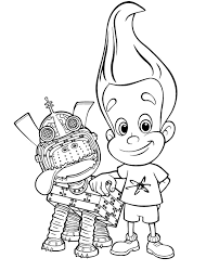 coloring pages jimmy neutron animated images gifs pictures
