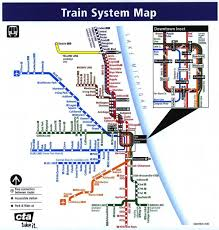 Map Chicago by Train Map Chicago Chicago Train System Map United States Of