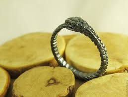 buy metal rings images Dark ouroboros ring unisex shop online on livemaster with jpg