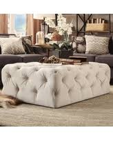 Rectangular Cocktail Ottoman Find The Best Deals On Bourges Cocktail Ottoman Upholstery Beige