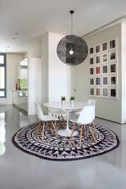 round rug for under kitchen table best 25 rug under dining table ideas on pinterest and also good