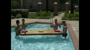 Pool Beer Pong Table by Floating Beer Pong Table Youtube