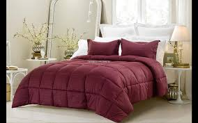 Wine Colored Bedding Sets 3pc Reversible Solid Emboss Striped Comforter Set Oversized And