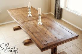 Build A Wooden Table Top by Ana White Triple Pedestal Farmhouse Table Diy Projects