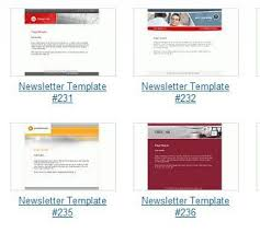 newsletter templates for print and web