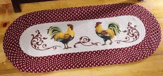 Braided Kitchen Rug Rooster Kitchen Rugs Webnuggetz Com
