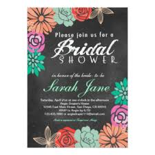wedding shower invitations bridal tea party bridal shower card black board design with teapot
