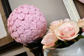 Flower Ball Diy Crepe Paper Flower Kissing Ball A Wonderful Thought