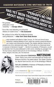 on truth and untruth selected writings friedrich nietzsche