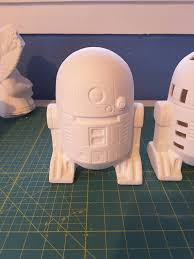 r2d2 wars unpainted ceramic bisque ready to by kiblercottage