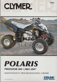 cm367 03 07 polaris predator 500 repair u0026 maintenance manual