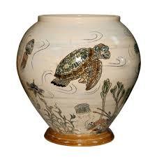 Hull Pottery Vase Fish Vase Large U2013 Andrew Hull Pottery Seaway China Company