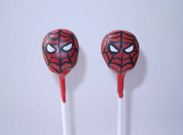spiderman cake pops from the cake pop company