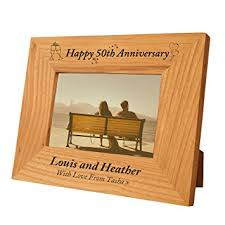 50th wedding anniversary gift engraved 50th wedding anniversary gift idea special 50th wedding