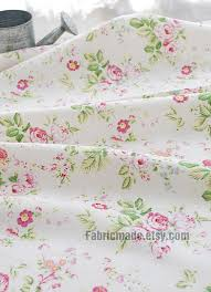 Fabric Shabby Chic by Pink China Rose Japanese Fabric Shabby Chic Fabric White