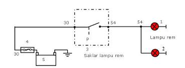 rangkaian lampu mundur dan lampu rem apriantootomotif