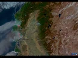 Wildfire From Space by Screams Of U0027terror As Flames Barreled Down U0027 Relentless California
