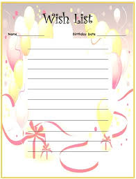 9 free sample holiday wish list templates u2013 printable samples