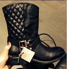 womens boots quilted black quilted biker boots ankle boots shoes boots