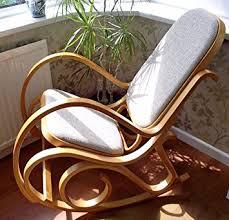 siege thonet nouveau bois courbé fauteuil à bascule bouleau bois avec siège