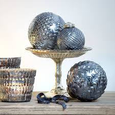 Christmas Bauble Storage Uk by Style Mirrored Indigo Glass Bauble