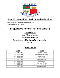 Resume Writing Course Job Letter U0026 Resume Writing