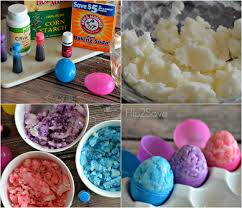 homemade easter egg shaped bath bombs bath bomb