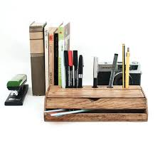 Wood Desk Accessories Rustic Desk Organizer Vintage Wood Desk Organizer Rustic Desk
