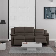 canapé relax simili cuir relax canapé 3 places relaxation pu cuir taupe achat vente
