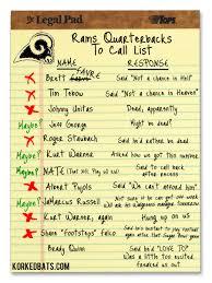 St Louis Rams Memes - picture st louis rams quarterbacks to call list korked bats