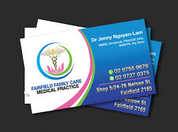 professional bold business card design for fairfield family care