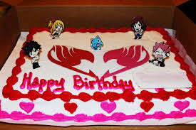 fairy tail birthday valentine cake by dragonfairy93 on deviantart